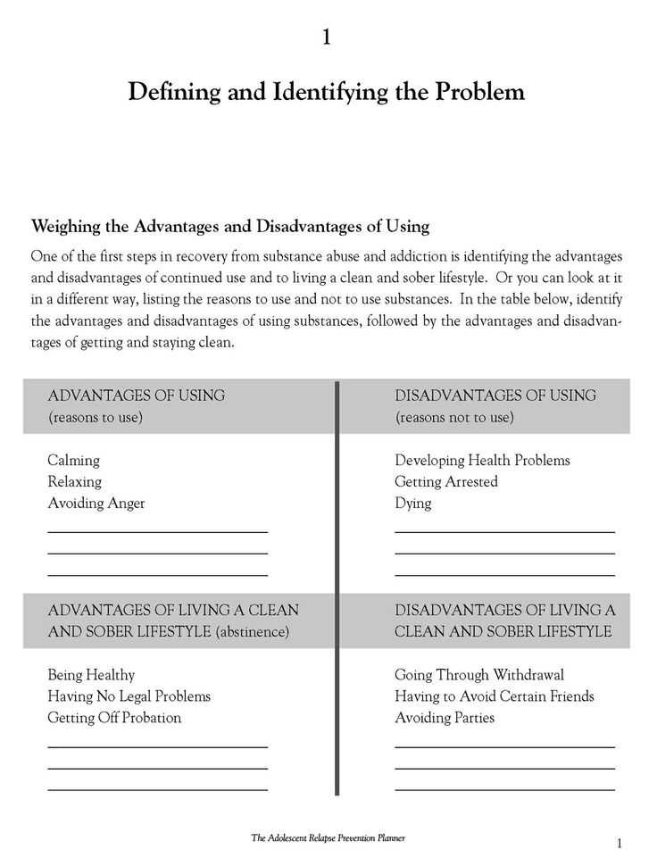 Substance Abuse Worksheets Pdf Also 37 Best Relapse Prevention Images On Pinterest