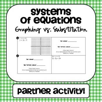 Systems Of Equations Activity Worksheet Also 166 Best Algebra 1 Images On Pinterest