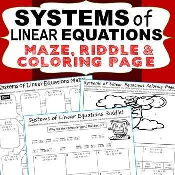 Systems Of Equations Activity Worksheet together with 207 Best Systems Equatios by Substitution Images On Pinterest