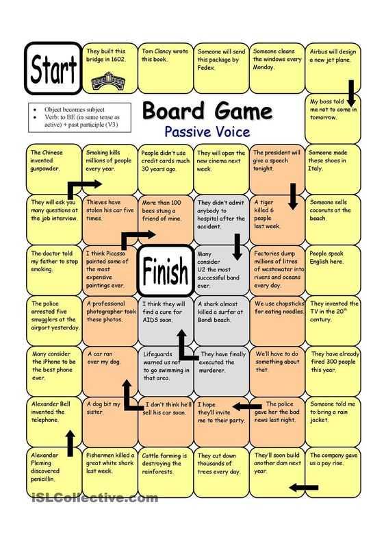 Teacher Made Worksheets and Board Game Passive Voice Worksheet Free Esl Printable Worksheets