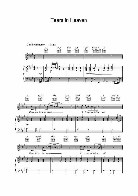 Tears Tears Everywhere Worksheet Answers with 50 Beautiful Collection Tears In Heaven Chords Piano Chords Music