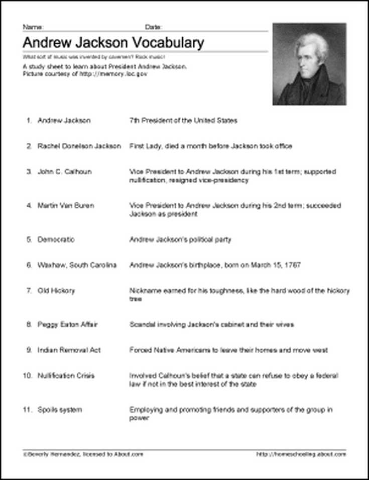 The Age Of Jackson Worksheet Answers as Well as andrew Jackson Heads or Tails Lesson Presentation