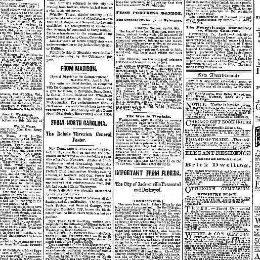 The Carolina Charter Of 1663 Worksheet Answers or Chicago Daily Tribune [volume] Chicago Ill 1860 1864 April 10
