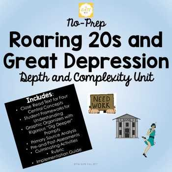 The Roaring Twenties Worksheet Answers Along with Roaring 20s assessment Teaching Resources