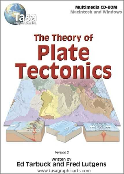 The theory Of Plate Tectonics Worksheet and the theory Of Plate Tectonics Cd Rom by Tasa Graphic Arts Written