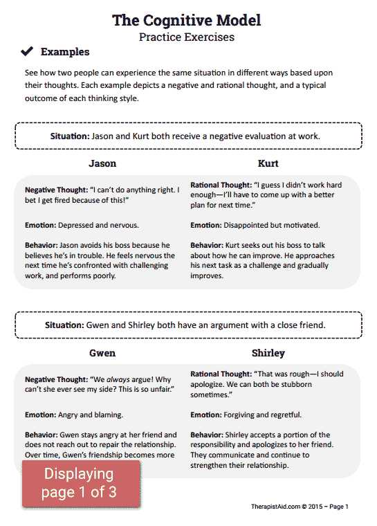 Therapist Aid Worksheets as Well as Cbt Practice Exercises Preview Bsw Msw Pinterest