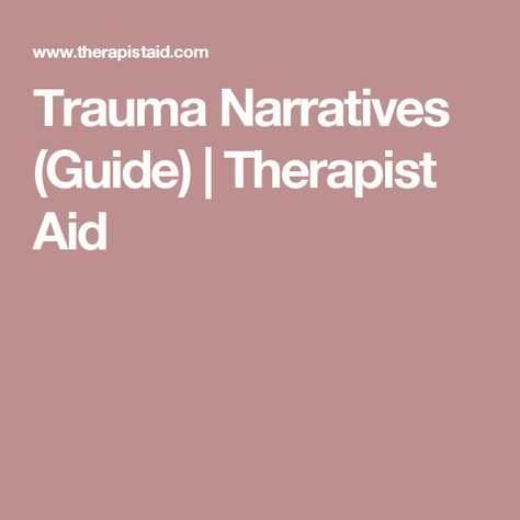 Therapist Aid Worksheets with Trauma Narratives Guide therapist Aid …