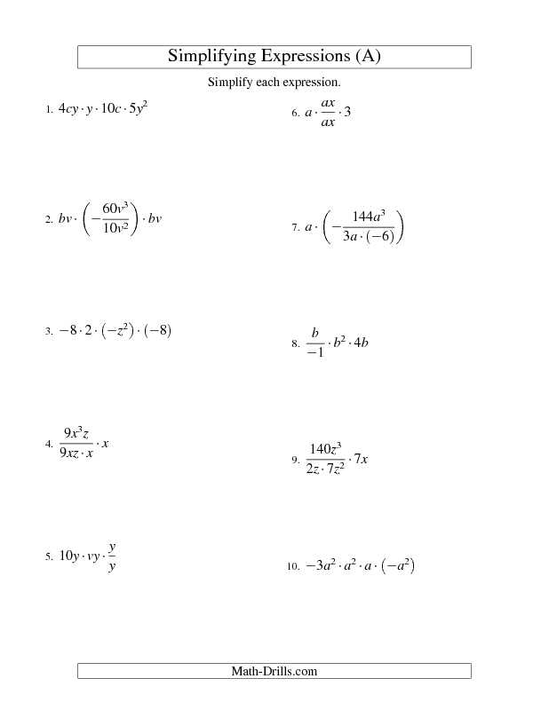 Transition to Algebra Worksheets Along with Algebra Worksheet Simplifying Algebraic Expressions with Two