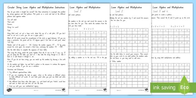 Transition to Algebra Worksheets as Well as Algebra Mathematical Inquiry Differentiated Worksheet Activity