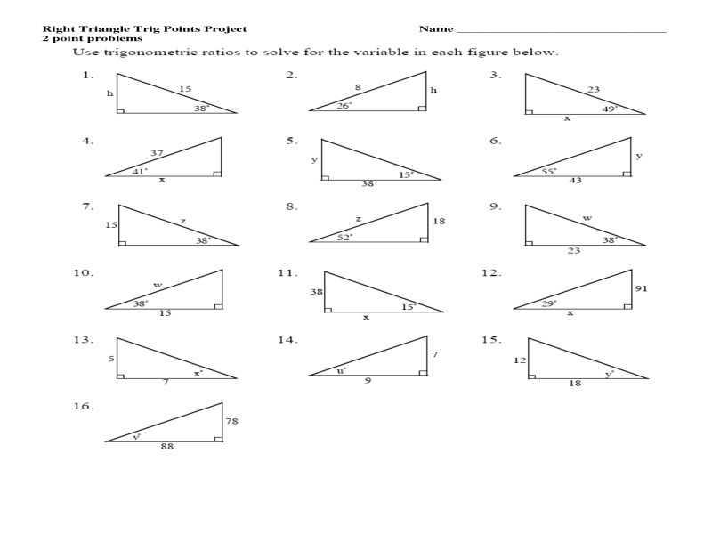 Trigonometry Ratios In Right Triangles Worksheet with Worksheets 50 Beautiful Trigonometric Ratios Worksheet High