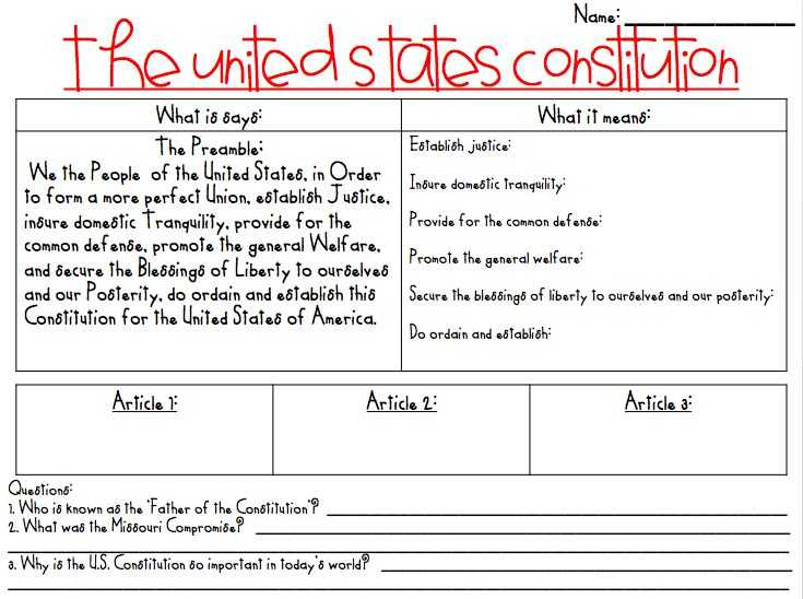 United States Constitution Worksheet Along with 48 Best Constitution Day Ideas Lessons and Activities Images On
