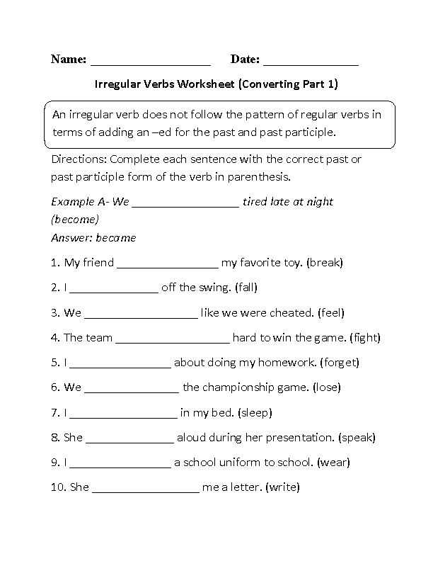 Verbs Worksheet Pdf and 91 Best Verbs Images On Pinterest