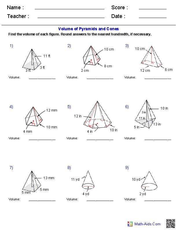 Volume Of Prisms Worksheet and Geometry Surface area and Volume Worksheet Answers Worksheets for