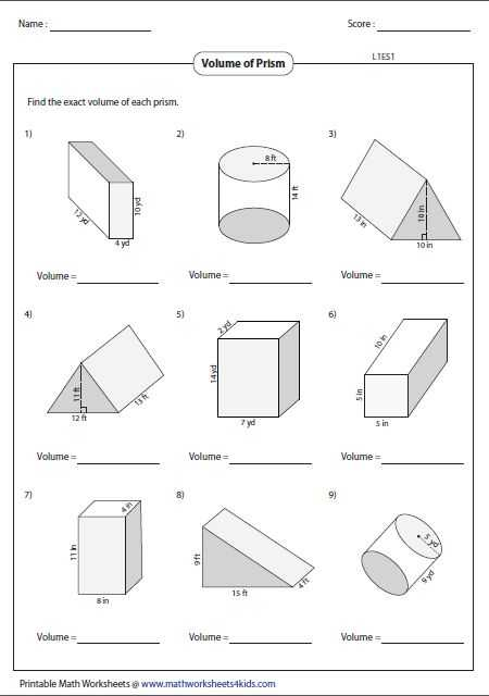 Volume Of Prisms Worksheet as Well as 36 Best Geometry Worksheets Images On Pinterest