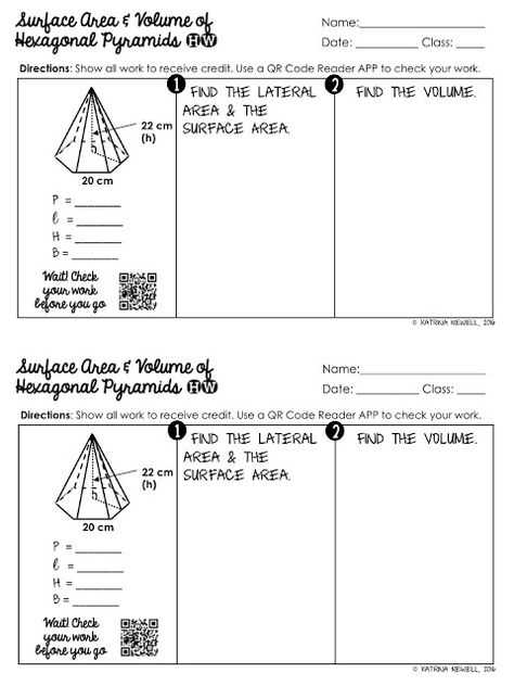 Volume Of Prisms Worksheet as Well as Free Surface area and Volume Of Hexagonal Prisms Worksheet