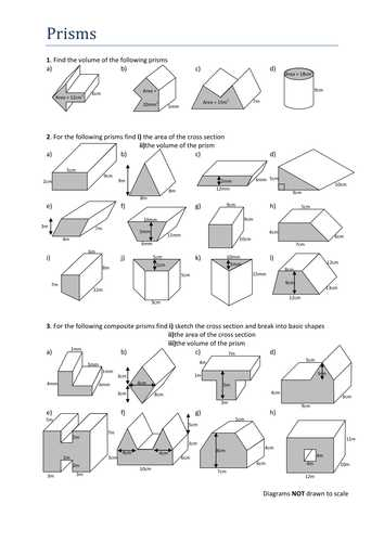 Volume Of Prisms Worksheet or Volume & Surface area Cylinder by Jamescmartin Teaching Resources