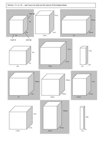 Volume Of Prisms Worksheet together with Finding the Volume Of A Cuboid Rag by Rishna S Teaching Resources
