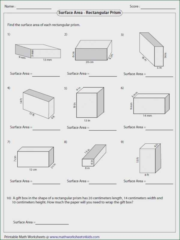 Volume Rectangular Prism Worksheet Answers or Volume Worksheets