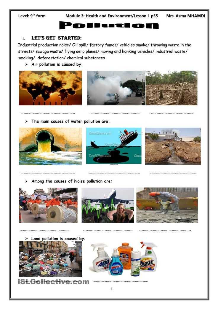 Water Pollution Worksheet and 185 Best Science Images On Pinterest