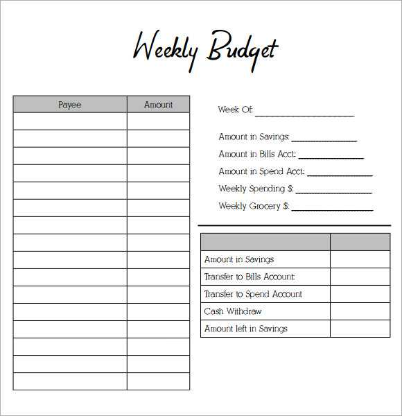 Weekly Budget Worksheet Pdf Also Blank Bud Template Unique Best S Monthly Accrued Household Bud