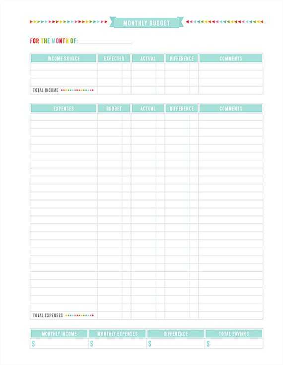 Weekly Budget Worksheet Pdf as Well as Monthly Bud Printable Pdf Planner Page Instant by Misstiina