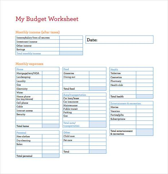 Weekly Budget Worksheet Pdf or Bud Spreadsheets Free Guvecurid