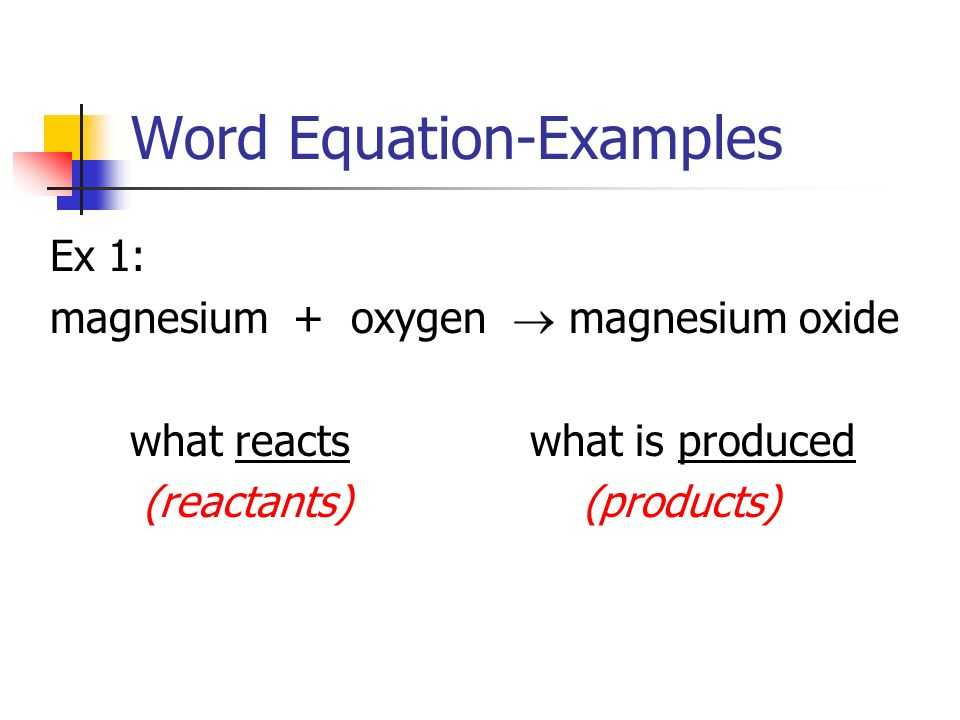 Word Equations Chemistry Worksheet together with 2 3 Types Of Chemical Reactions P Word Equation A Word Equation