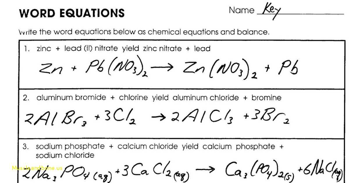 Word Equations Chemistry Worksheet with Simple Word Equations for Chemical Reactions Worksheet Lovely How to
