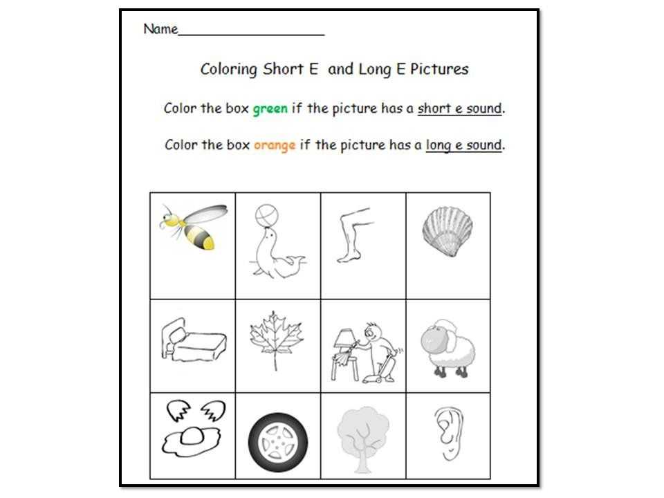 Words with the Same Vowel sound Worksheets Along with Long E Vowel sound Literacy Center Activities & Worksheets