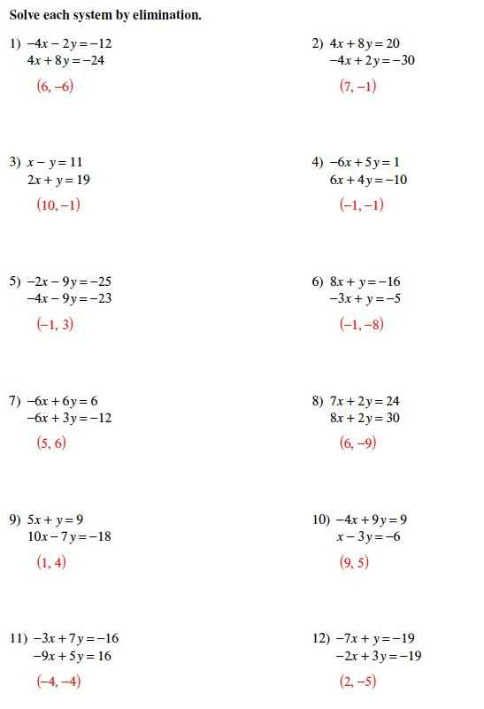 Worksheet 3 Systems Of Equations Substitution and Elimination Answers Also solving Systems Equations Algebraically Worksheet Best Systems