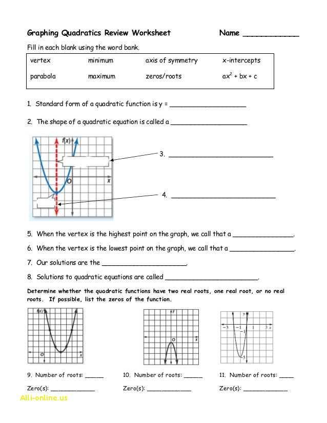 Worksheet Graphing Quadratics From Standard form Answer Key Also Luxury Worksheet Graphing Quadratics From Standard form Answer Key