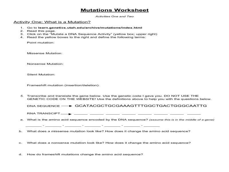 Worksheet Mutations Practice as Well as Worksheet 46 Best Eftps Worksheet Sets High Resolution Wallpaper