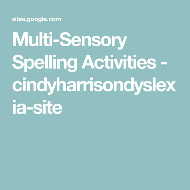Worksheets for Dyslexia Spelling Pdf Along with Multi Sensory Spelling Activities Cindyharrisondyslexia Site