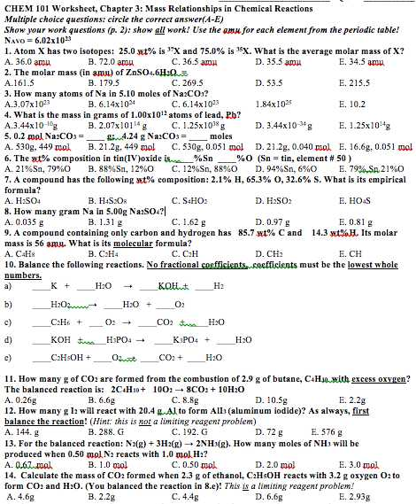 2.4 Chemical Reactions Worksheet Answers Along with Worksheets 48 Inspirational 2 4 Chemical Reactions Worksheet Answers
