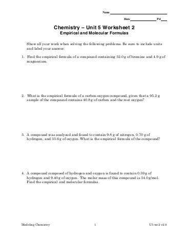 2.4 Chemical Reactions Worksheet Answers and Ap Unit 1 Worksheet Answers Jensen Chemistry