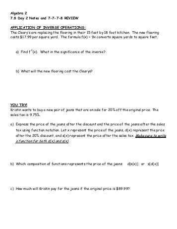Algebra 2 Chapter 7 Review Worksheet Answers with Algebra 2 Chapter 8 Review Answers Wilsonsd
