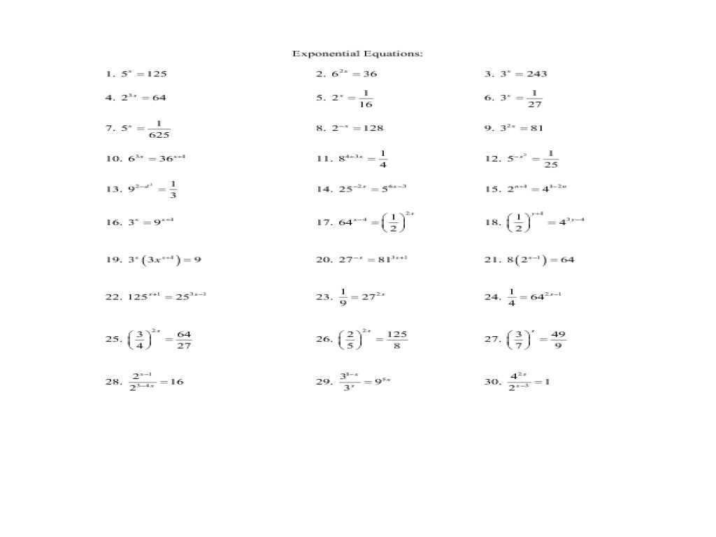 Algebra 3 4 Complex Numbers Worksheet Answers or Exponential Worksheets Kidz Activities