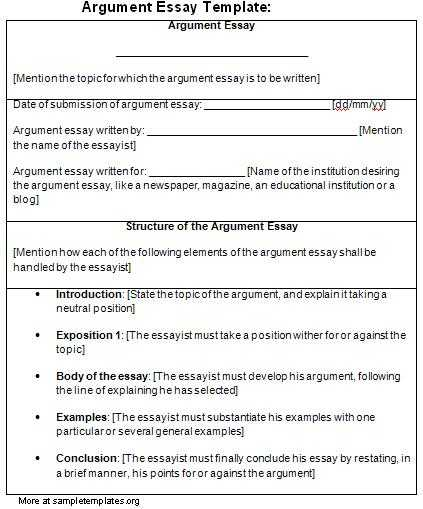 Argumentative Essay Outline Worksheet or Persuasive Essay Template Writing A Precis for A Student for College