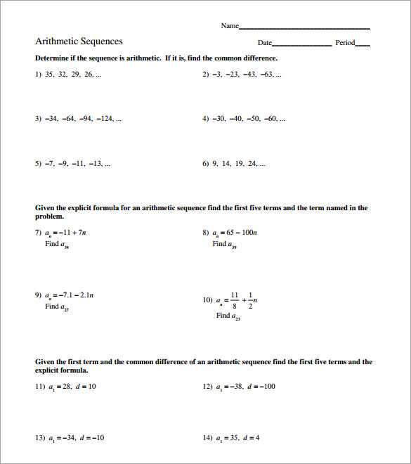 Arithmetic and Geometric Sequences Worksheet Pdf Along with Inspirational Arithmetic Sequence Worksheet Fresh Arithmetic