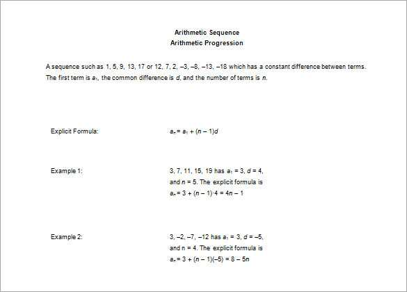 Arithmetic and Geometric Sequences Worksheet Pdf or Inspirational Arithmetic Sequence Worksheet Fresh Arithmetic