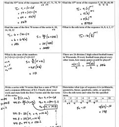 Arithmetic Sequences Worksheet Answers   Printable Worksheets and  Activities for Teachers [ 2048 x 1613 Pixel ]