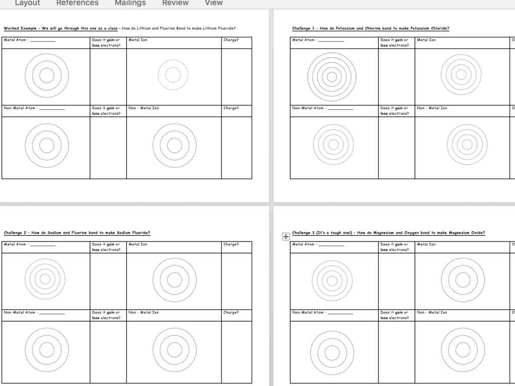 Ionic And Covalent Compounds Worksheet Answers