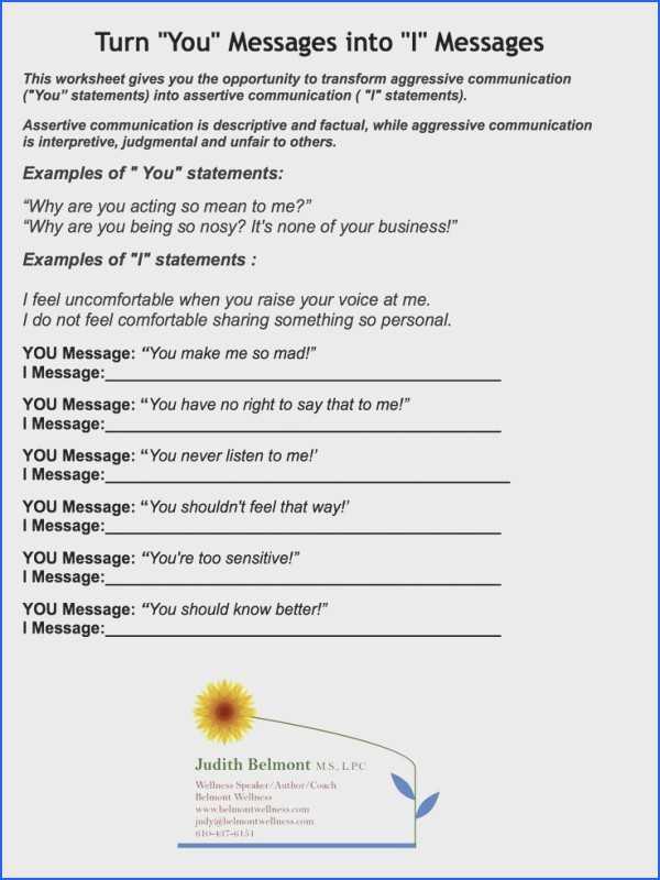 Basic Conversation Skills Worksheets with Munication Skills Worksheets
