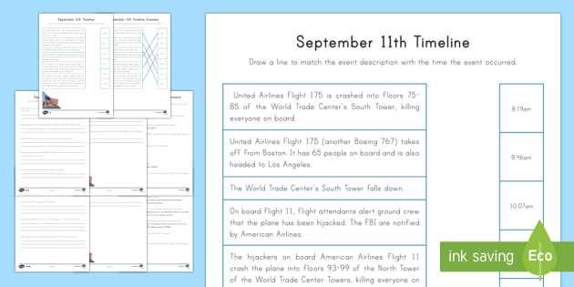 Blank Timeline Worksheet Pdf Also September 11th Differentiated Timeline Worksheet Activity