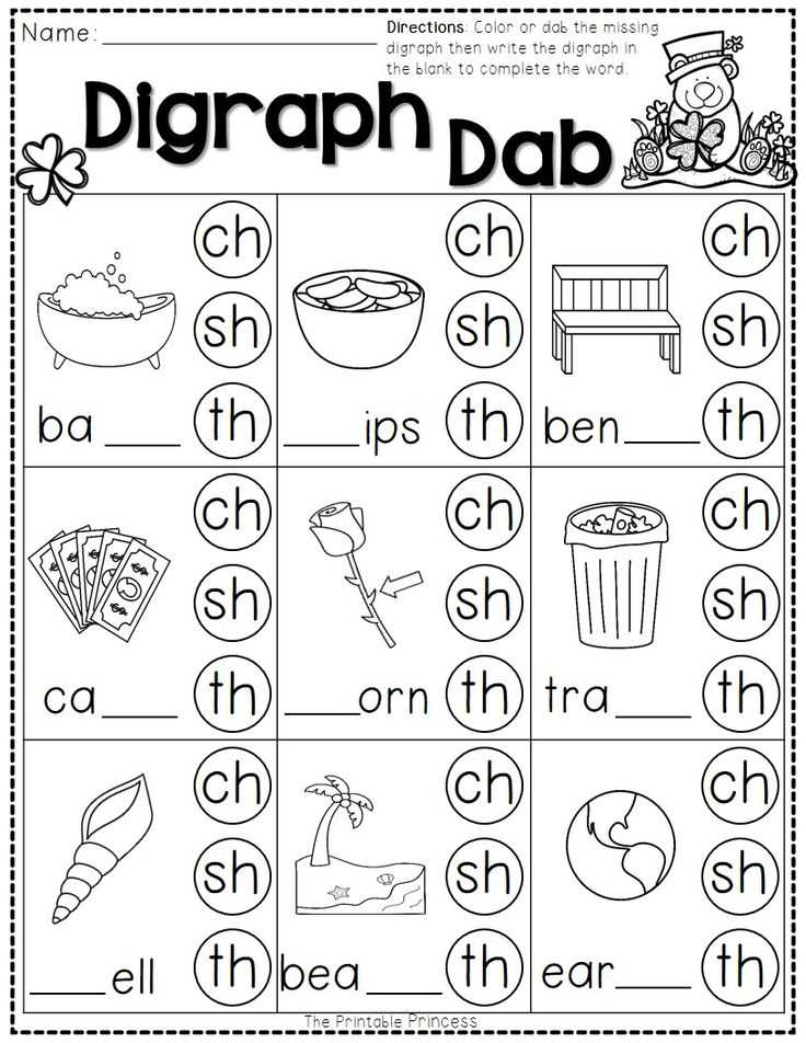 Blends and Digraphs Worksheets and 204 Best First Grade Images On Pinterest