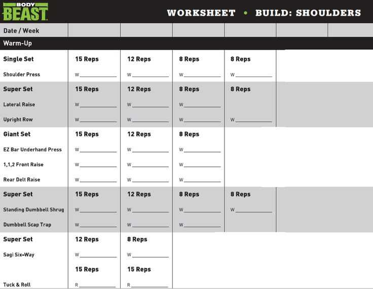 Body Beast Cardio Worksheet with 100 Best Workouts Images On Pinterest
