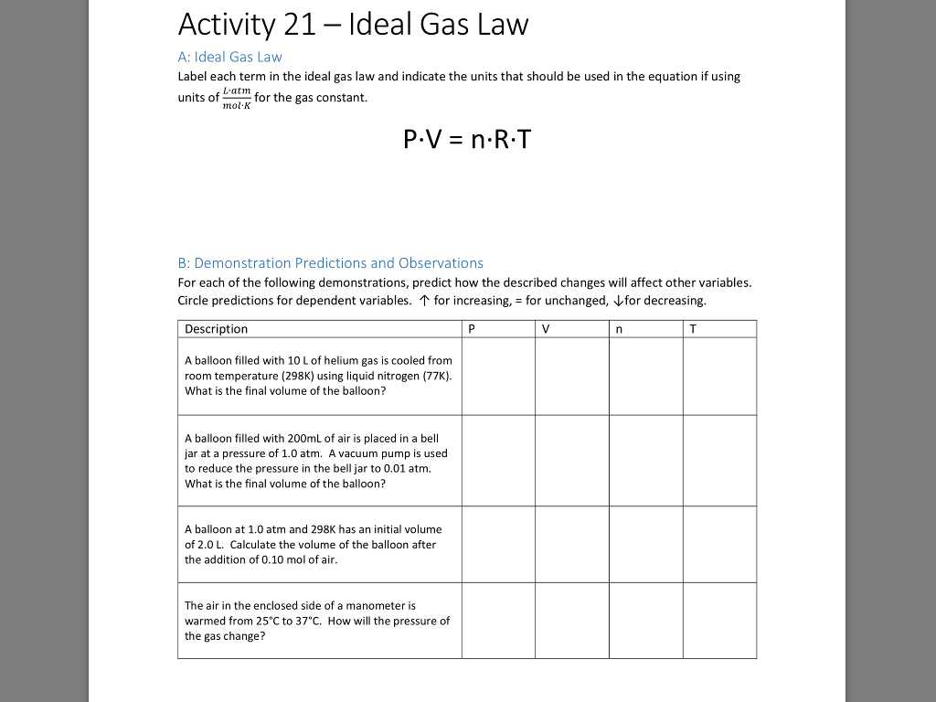 Boyle's Law and Charles Law Worksheet Answer Key and Chemistry Archive November 02 2017 Chegg