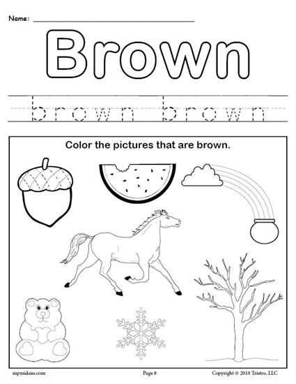 Brown Worksheets for Preschool or 1087 Best Worksheets Activities & Lesson Plans for Kids Images On