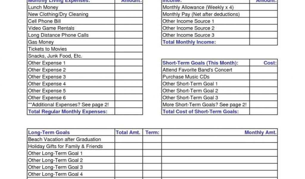 Business Income and Extra Expense Worksheet Also Business Monthly Expenses Spreadsheet or Best S Simple Monthly