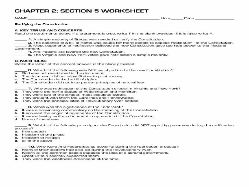 Chapter 5 Section 1 Understanding Supply Worksheet Answers and Analysis the Constitution Worksheet Answers Worksheet Res